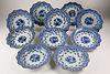 Set of Ten Chinese Export Porcelain Underglaze Blue Soup Plates, circa 1740