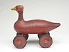 Red Goose Riding Toy.