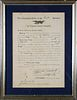 1891 Florida State Troops Military Appointment Document