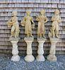 Set of Four Seasons Garden Statues, 20thCentury