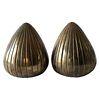Ben Seibel Raymor Brass Clam Shell Modernist Bookends