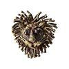 1970s Pal Kepenyes Mexican Modernist Bronze Glass Eyed Lion Cuff Bracelet