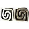 1950s Harold Fithian Sterling Silver American Modernist Swirl Cufflinks