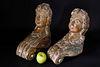 Fine Pair of Miniature Figurehead Style Polychromed Carvings, 19th Century