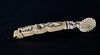 Antique Whale Ivory and Silver Inlaid Pie Crimper, circa 1850