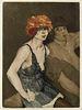 Pantorni, Aurèle Le Fou. Poèmes. Mit 6 Farbradierungen von Edouard Chimot und 6 Holzstichen nach Chimot von Sauget. Paris, Aux dépens des Auteurs, 192