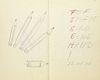 Waldschmidt, Arno Das Handbuch. Ein Handbuch der Arbeit und ein Arbeitsbuch der Hände. Unikatbuch mit Handschrift und Zeichnungen in Bleistift, teils