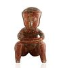 200 BC-200 AD PRE-COLUMBIAN SEATED CHINESCO FIGURE, STATE OF NAYARIT, WEST MEXICO