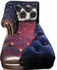 Vintage Chesterfield Style Chaise Lounge