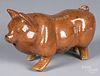 Stoneware pig, ca. 1900, impressed W.M. Moser