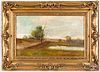 Oil on canvas landscape, ca. 1900