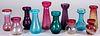 Glass hyacinth vases