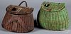 Two basket fishing creels, early 20th c.