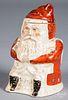 Staffordshire Santa Claus candy jar, early 20th c.