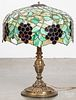 Leaded glass table lamp, early 20th c.