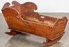 Painted cradle, 19th c.