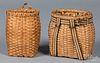 Pair of miniature splint pack baskets