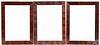 "Three painted frames, 19th c., 16 1/2"" x 12 1/4""."