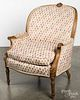 French upholstered armchair.