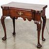 George III carved mahogany card table, ca. 1760