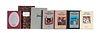 Sammlung von 7 Pressendrucken von BILDER/bücher, überwiegend Vorzugsausgaben, und 6 Neujahrs-Grußkarten mit Original Graphiken.