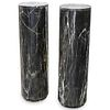 Veined Black & White Italian Marble Columns