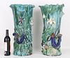 Palatial Chinese Shiwan Kiln Glazed Ceramic Vases