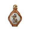 A FAMILLE-ROSE 'LADY' SNUFF BOTTLE