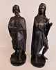 2 FRENCH BRONZE FIGURES BY A. CARRIER: MICHELANGELO & RAPHAEL