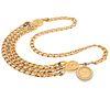 Chanel Medallion, Curb Link Chain Belt
