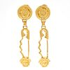 Pair of Gianni Versace Goldtone Ear Clips