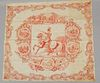 Red William Henry Harrison Political Textile