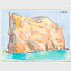 Murray Hantman (1904-1999): Perce Rock; Rosy Peaks; Wrath of God; and Untitled