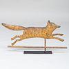 Gilt-Metal Running Fox Weathervane, in the Manner of Fiske