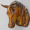 Zinc and Parcel-Gilt Horse Head Trade Sign