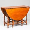 William and Mary Maple Drop-Leaf Gate-Leg Table, Massachusetts