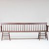 Long Federal Style Brown Painted Hall Bench