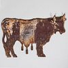 Painted Cast Iron Cow-Formed Dairy Trade Sign, possibly French