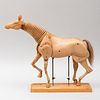 American Wooden Articulated Horse