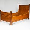 Fine Pair of Aesthetic Movement Inlaid Bird's Eye Maple Single Beds, Herter Brothers