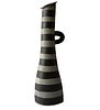 Kazuko Matthews Monumental Post Modern California Studio Striped Stoneware Vase