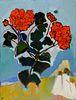 Gloria Vanderbilt (American, 1924-2019) Geraniums, 2006