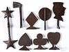 Group of cast iron shooting gallery targets