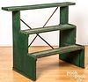 Painted tiered plant stand, early 20th c.
