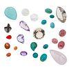 Lote de 25 gemas sin montar en distintan tallas y calidades.
