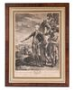 IMPORTANT ENGRAVING OF THE MARQUIS DE LAFAYETTE, AMERICAN REVOLUTIONARY WAR, BY LE MIRE AFTER LE PAON, 1781