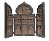 17TH-18TH C. RUSSIAN CARVED WOOD ICON