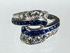 jsaPHIRE & DIAMOND RING