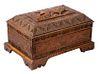 PERSIAN QAJAR CARVED WOODEN STORAGE BOX