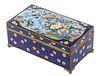 JAPANESE CLOISONNE HINGED LID BOX